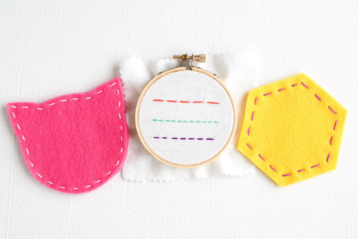 Sewing Running Stitch Coasters