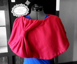 DIY Large Bow Capelet