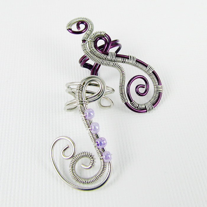 Picture of Woven Freeform Swirly Ear Cuff