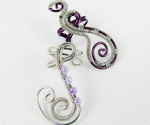 Woven Freeform Swirly Ear Cuff