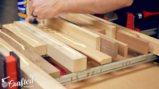 Arrange Strips and Glue Up Layers