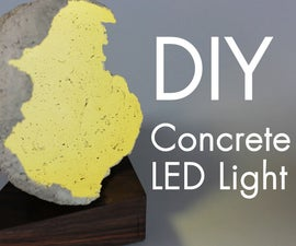 Concrete 3 Watt LED Light W/ Walnut & Balloons!