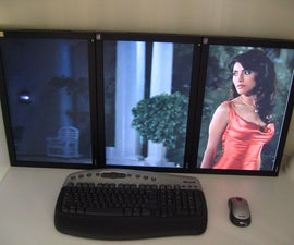 """UPDATED: QUADscreens (4,200 x 1,680) -- fka: triplescreens 41-inch uberHDTV (3,150 x 1,680) - 3 x 20"""" monitors in portrait"""