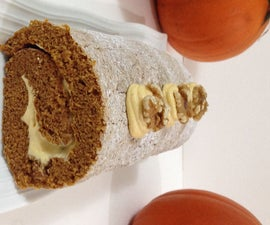 Pumpkin Roll With Pumpkin Mousse Filling