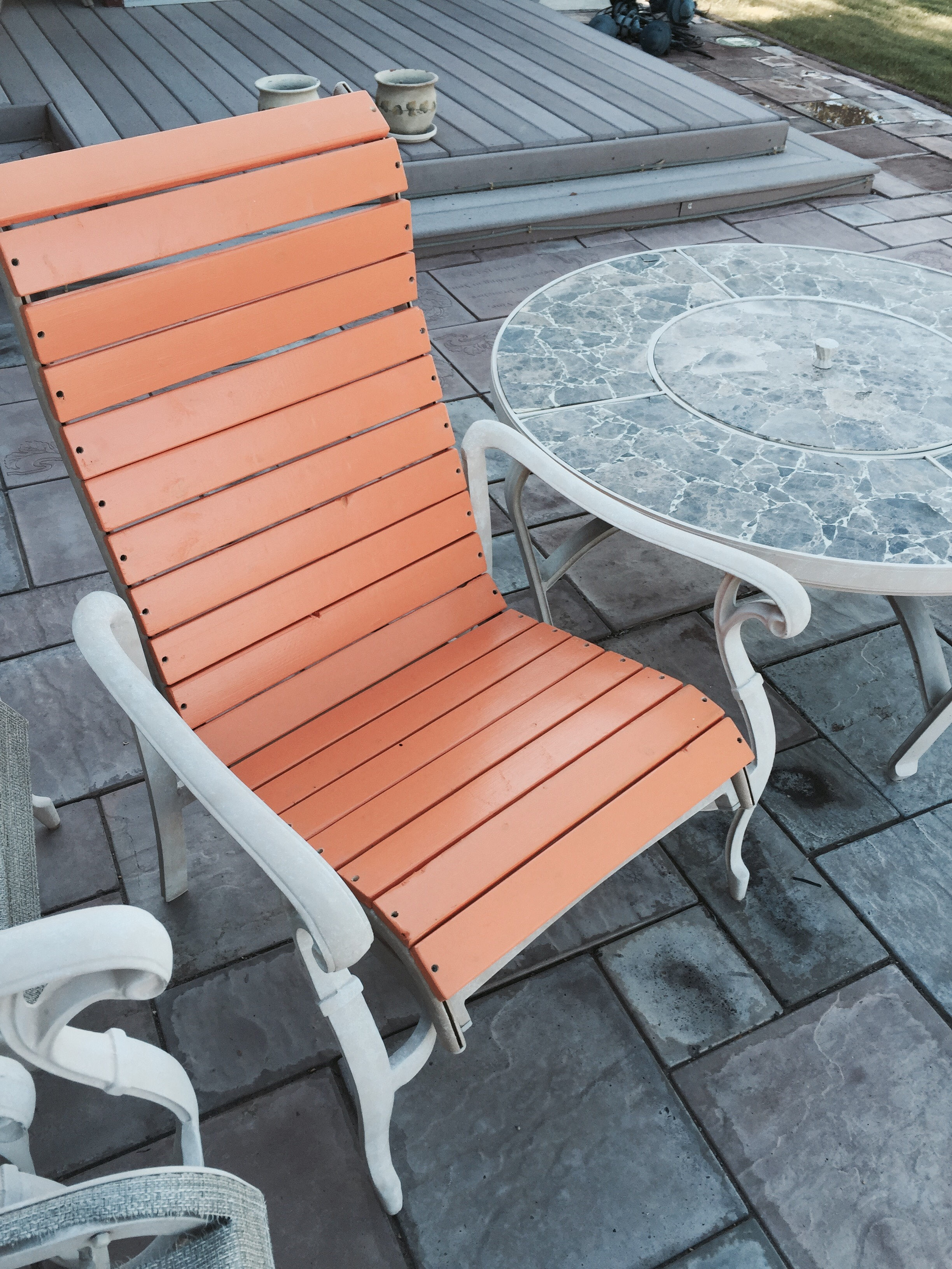 How To Repair Patio Furniture.Patio Chair Re Build 5 Steps With Pictures