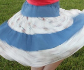 Tiered Spinny Skirt for folks of All Ages