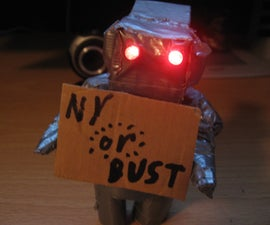 How to make a cheap, mini robot out of cardboard