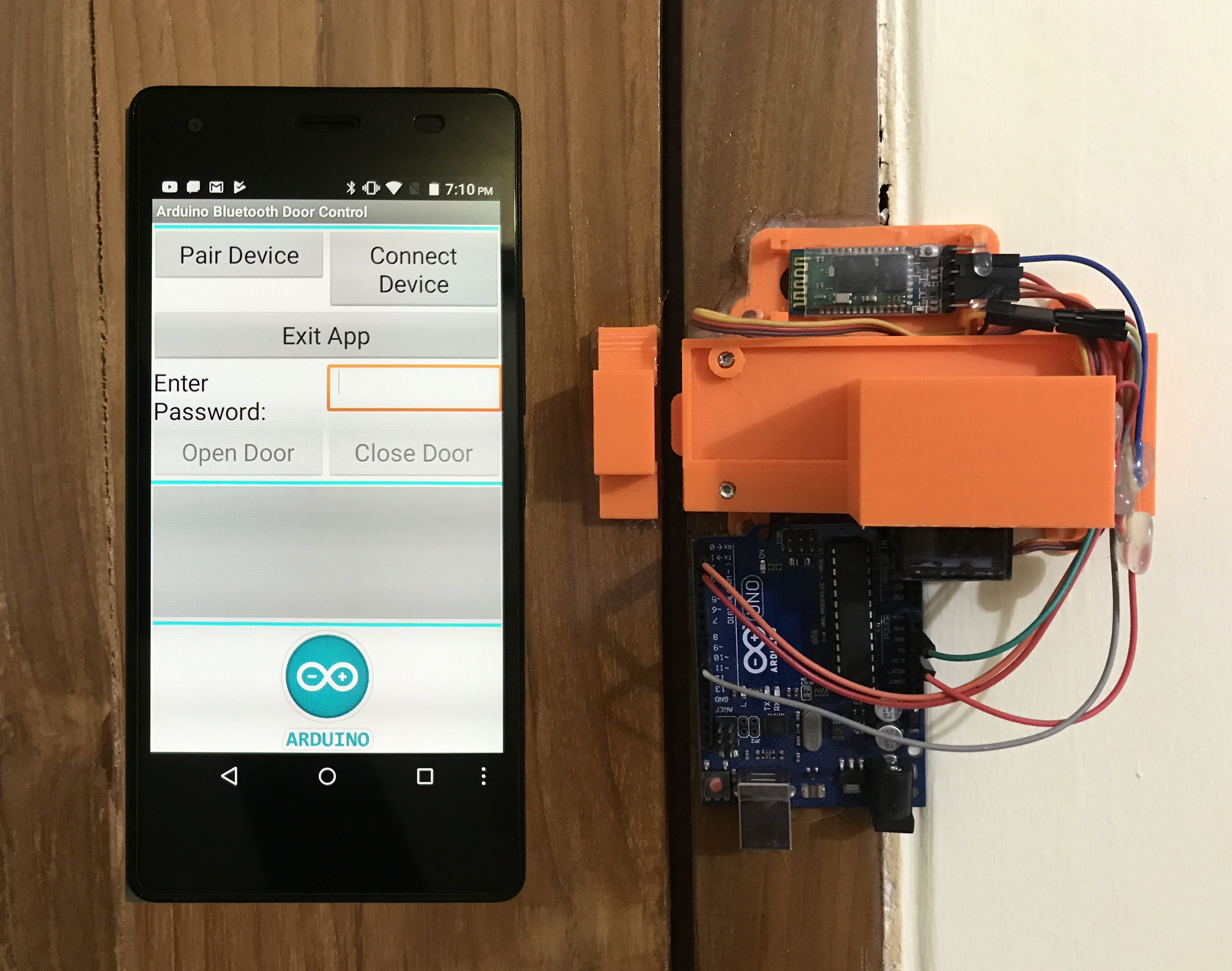 Picture of Arduino & Android Based Bluetooth Control Password Protected Door Lock (Version 2)