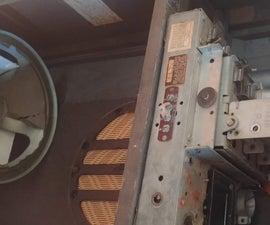 Amazon Echo Inside Antique Radio