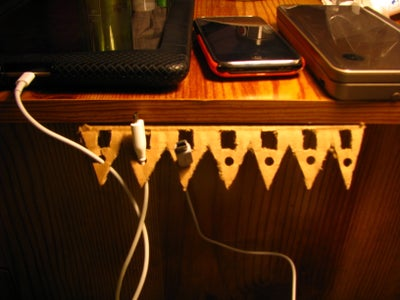 Bedside Table Cord Organizer