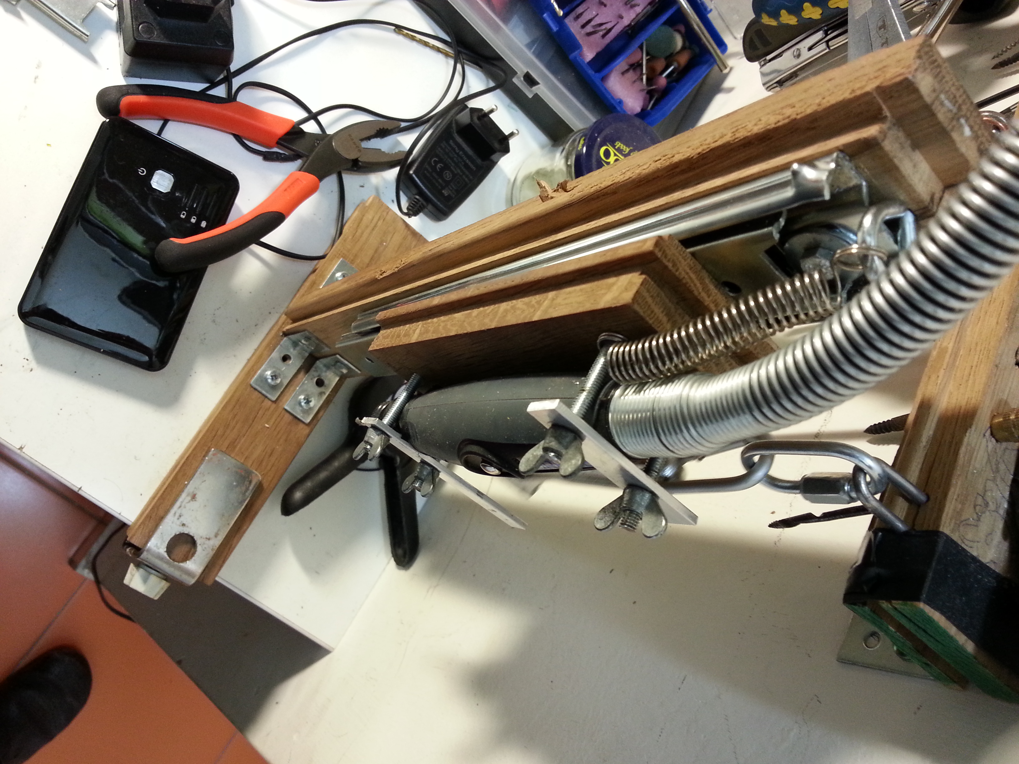 Picture of Drill Press With Dremel Flexshaft