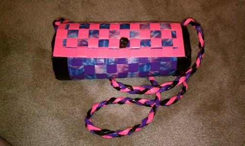 Pink, Purple, and Tye-Dye Duct Tape Purse