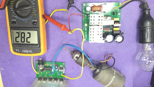 Connect 24V/15A DC Power Supply and 24V 750W DC Motor Speed Control
