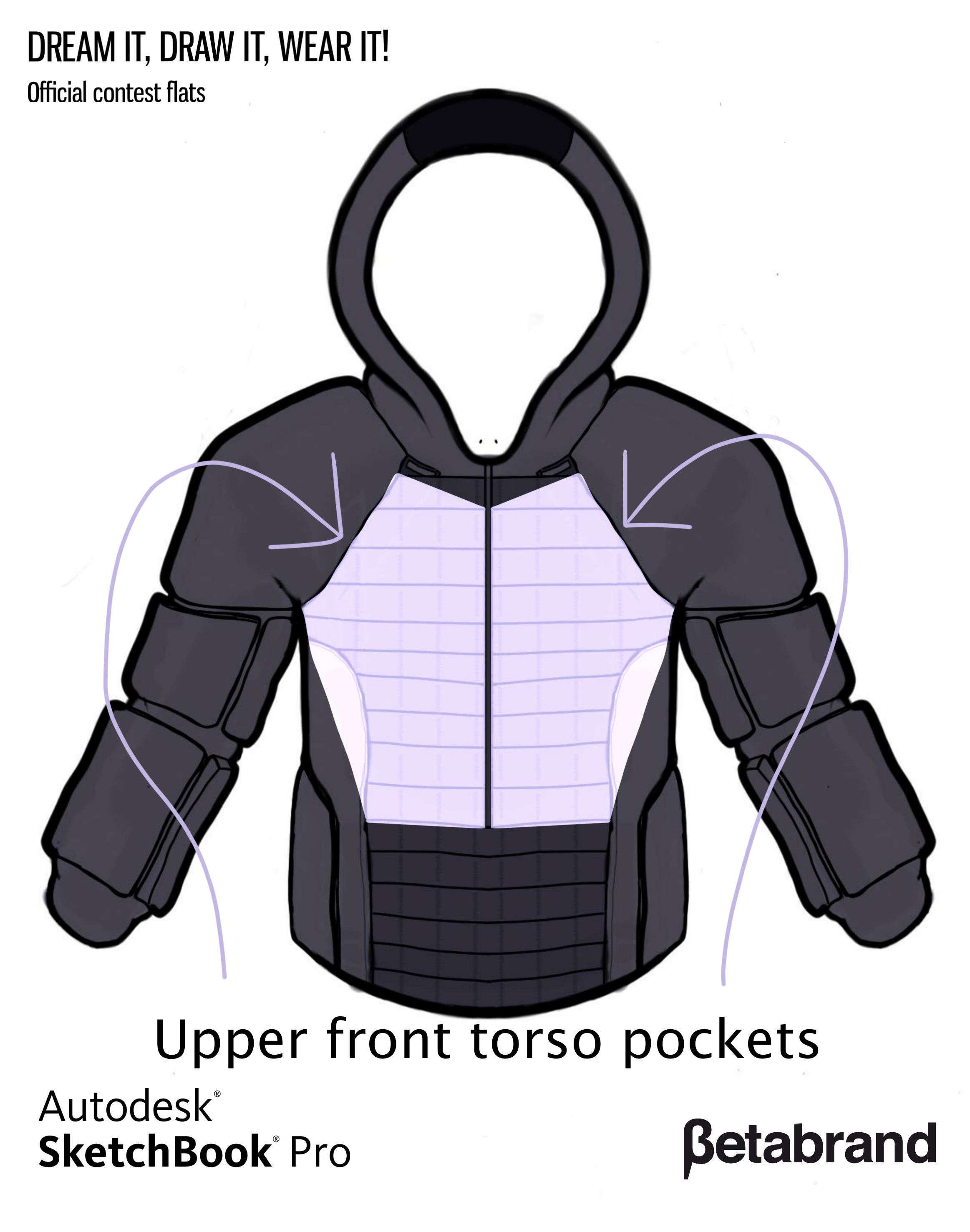 Picture of Detailed Description of Hoodie [Top Front Pocket]
