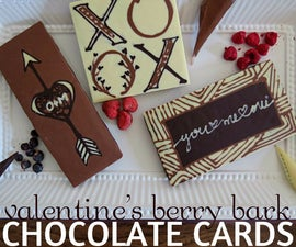Chocolate Greeting Cards: Valentine's Berry Bark