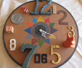 Functional Found Art Assemblage- Clock
