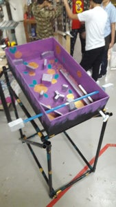 Modified Pinball Machine : Wood, PVC