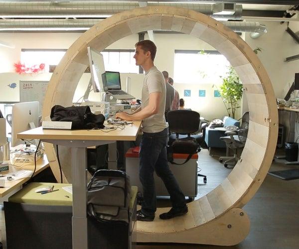 Hamster Wheel Standing Desk