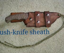 Leather Bush-knife Sheath