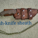 leather bush-knife sheath