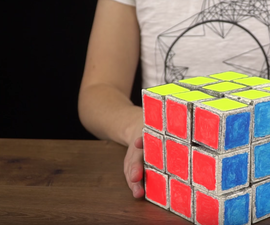 How to Make Giant Paper Rubik's Cube