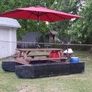 pontoon boat picnic table