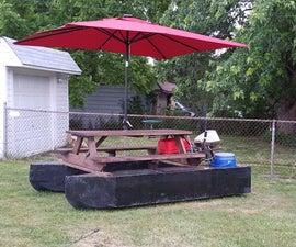 pontoon boat picnic table