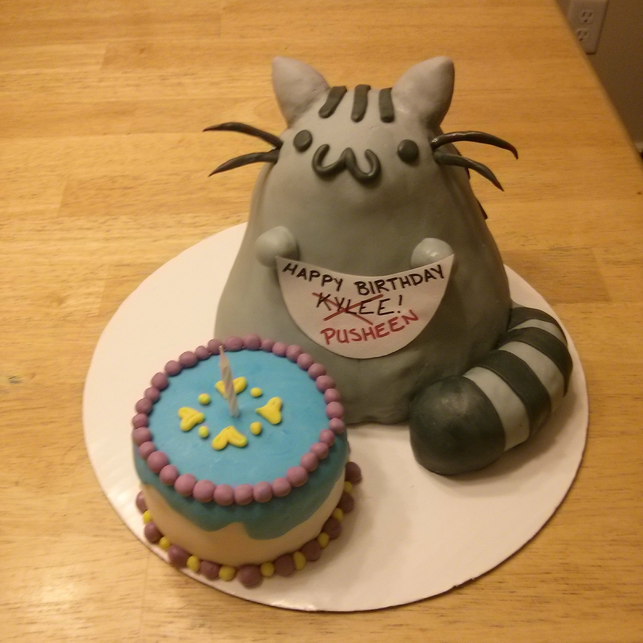 Prime Pusheen Cat Cake 9 Steps With Pictures Instructables Birthday Cards Printable Inklcafe Filternl