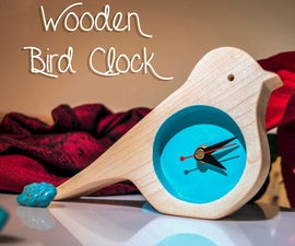 Wooden Bird Clock