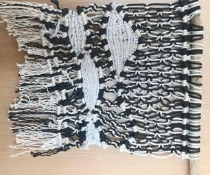 DIY Woven-Macrame Wall Hanging