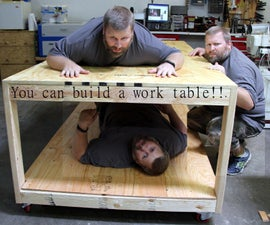 Make an easy 2x4 plywood rolling work table.