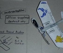 Office Supplies Airplane
