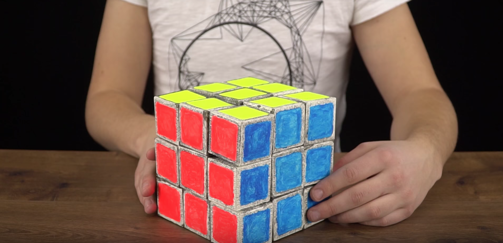 Picture of How to Make Giant Paper Rubik's Cube