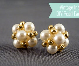 Easter jewelry inspiration project-how to make earrings studs out of pearls
