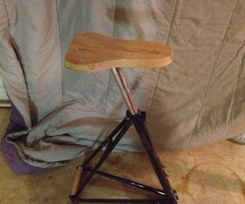 Bike frame shop stool