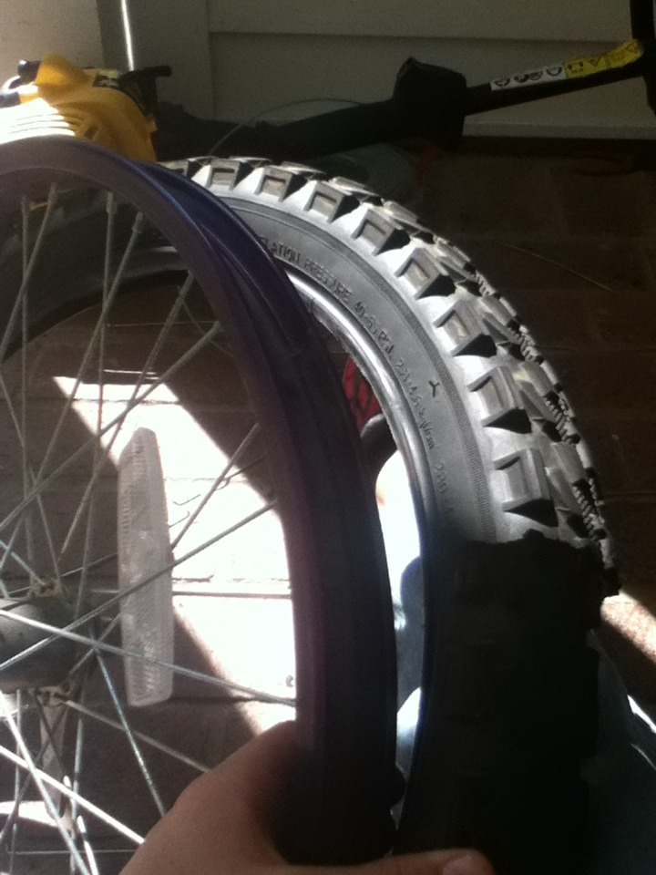Picture of Cutting of Rubber Tire