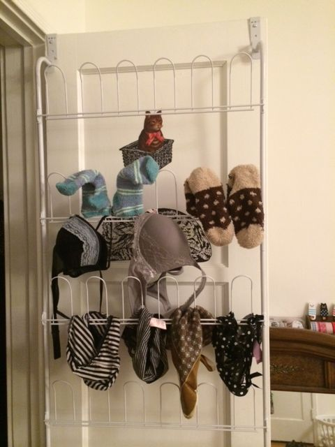 Picture of Using Shoe Racks As Clothes Hangers