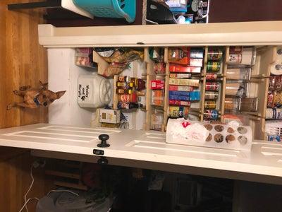 Installing the Shelves.