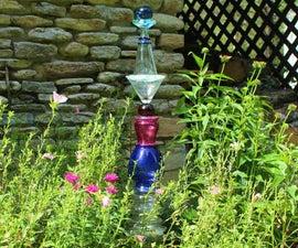 DIY Glass Garden Art Totem
