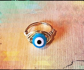 How to Make an Evil Eye Ring