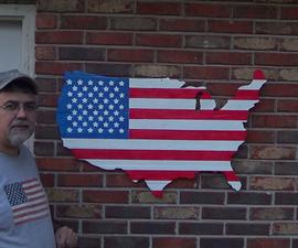 USA Shaped Pallet Flag
