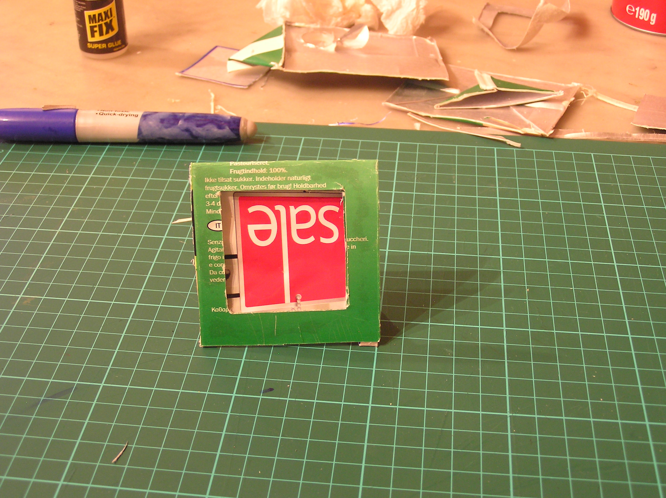 Picture of Upcycle a Juice Carton Into a Photo Frame.