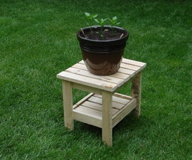 Recycled Potted Plant Table