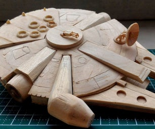 (Another Not So Mini) Millennium Falcon Popsicle Stick Model