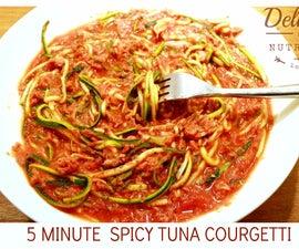 5 Minutes Spicy Tuna Courgetti