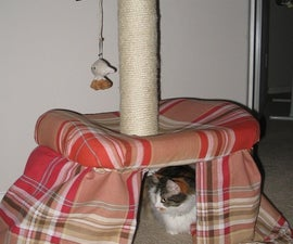 Turn an Office Chair into a Two-Tiered Cat Tree