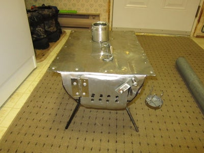 Small Wood Burning Tent Stove for Heating/cooking