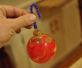 Crayon Swirl Christmas Ornaments
