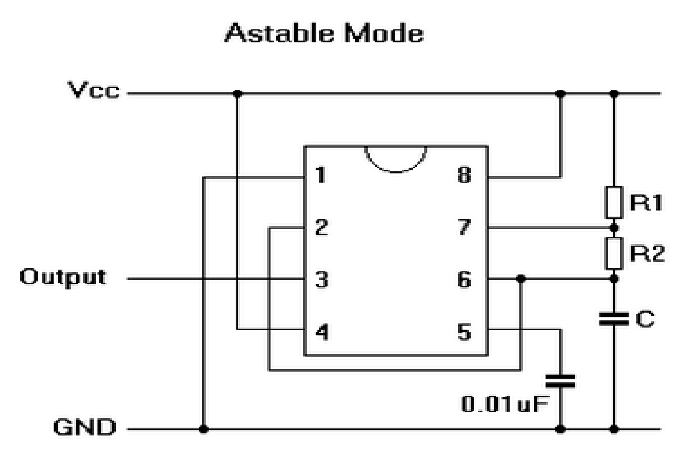 555 Timer in ASTABLE Mode - a Tutorial With Theory ... on