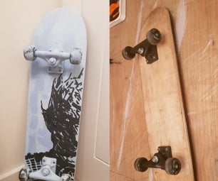 Game of Thrones Night King Skateboard Makeover